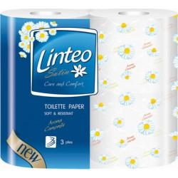 Toaletní papír Linteo, parfémovaný, 3 vrstvý, 4 role