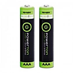 Baterie nabíjecí AAA, Powerton 900mAh, 2ks