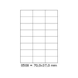Etikety 70,0x37,0mm, 24 etiket x 100 archů, R01000508