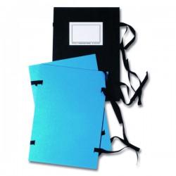Fasciklové desky A4, tkanice, jednostranné, modré