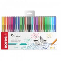 Liner Kores K-liner, sada 24 barev