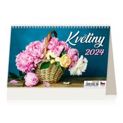 """S19-22 - stolní kalendář  """"Květiny"""""""