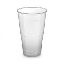 Kelímek plast. 400-500 ml, transparent , sada 50 ks