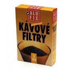 Filtry na kávu č.2, balení 100 kusů