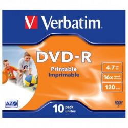 DVD-R Verbatim 4.7GB, 16x, Jewel Box
