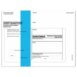 Doručenka B6, 125x176, modrý pruh, olizová, 1000 ks