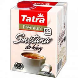 TATRA Premium 10%, smetana do kávy, krabice 500 g