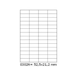 Etikety S 52,5x21,2mm, 56 etiket x 100 archů, R01000302