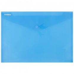 PP desky A4, klopa + patentka, transparent, modré, VLF