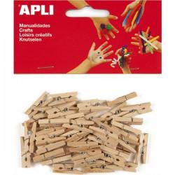 Dřevěné kolíčky 45 ks, přírodní