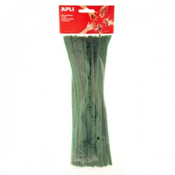 Drátek - žinylka, 30 cm, průměr 6 mm, 50ks, zelený