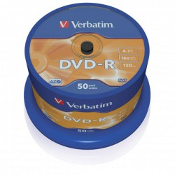 DVD-R Verbatim Plus, 4.7GB, 16x, CakeBox 50 ks
