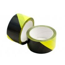 Lepící páska 50mm x 66m, žluto-černé pruhy, výstra