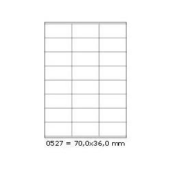 Etikety 70,0x36,0mm, 24 etiket x 100 archů, R01310527, Ž/F