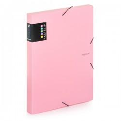 Krabice na spisy A4 s gumou Pastelini - růžová