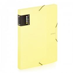 Krabice na spisy A4 s gumou Pastelini - žlutá