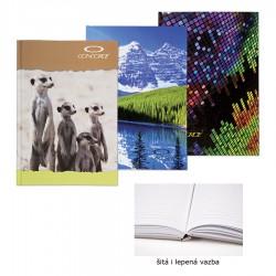 Záznamní kniha 55084, A5/100 listů, linky, šitá, VLF