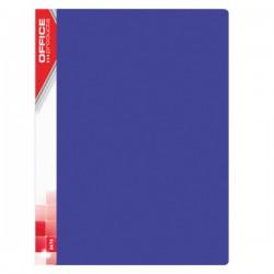 Prezentační kniha A4, 20 kapes, tvrdé desky, modré