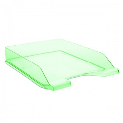 Zásuvka stohovací transparentní, zelená