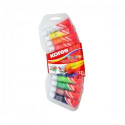 Barvy temperové Kores, 12 barev