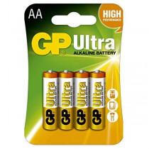 Tužk.baterie alkalická 1,5 V GP Ultra, AA, LR06, 4ks