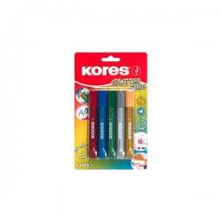 Lepidlo Kores Glitter Glue, sada 5 barev