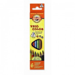 Pastelky 3131/6 barev, tenké, trojhranné