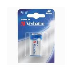 Destičková baterie 9 V, Verbatim, Alkalická