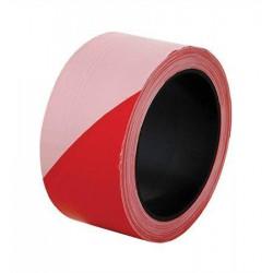 Páska ohraničovací červeno-bílé pruhy, 5 cm x 100 m
