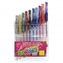 Gelové pero se třpitkami - 10 barev