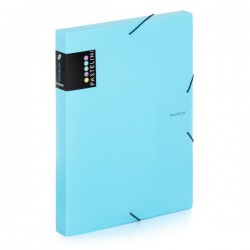 Krabice na spisy A4 s gumou Pastelini - modrá