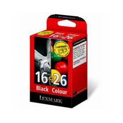 Cartridge Lexmark č.16 + č.26 černá/barva