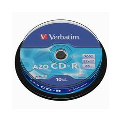 CD-R Verbatim 700 MB DataLife, 52x, Cake Box 10 ks