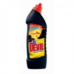 Dr. Devil WC Gel 750 ml, Lemon, čistič WC
