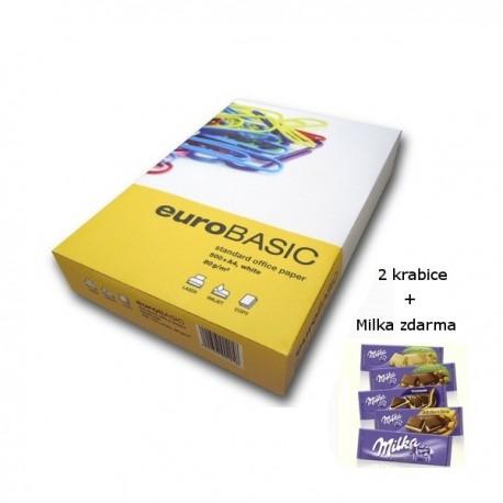 Euro Basic A4/80g - 2 krabice + čokoláda Milka
