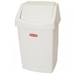 Koš odpadkový, výklopný, plastový, 25L - bílý