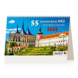 """S24-22 - stolní kalendář """"55 turistických NEJ"""""""
