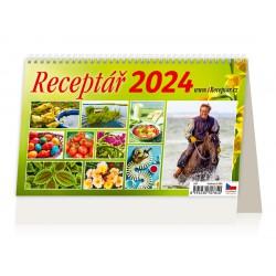 """S17-22 - stolní kalendář  """"Receptář"""""""