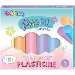 Plastelína Colorino pastelové barvy, 6ks