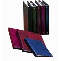 Čtyřkroužkový zápisník A5, s barevným rozdruž., kůže lesklá
