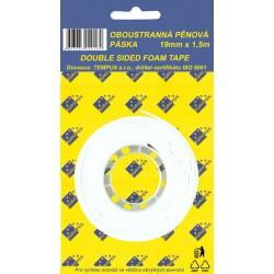 Oboustranná montážní páska 19mm x1,5m, pěnová