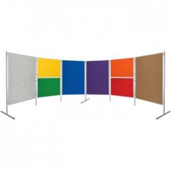 Paravan - Textilní tabule, 150 x 120 cm