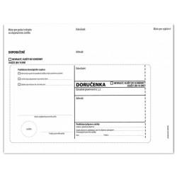 Doručenka B6, 125x176, bílá, olizová, 1000 ks
