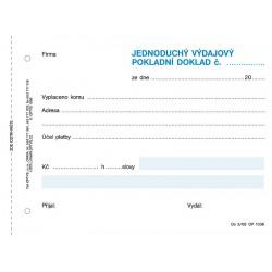 Výdajový pokladní doklad, jednoduchý, Op-36