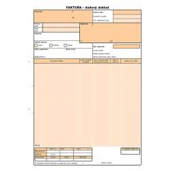 Faktura, daňový doklad A4, NCR, Op-71