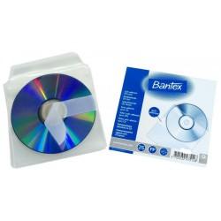 Nalepovací průhledná košilka na CD, s klopou, 25 ks