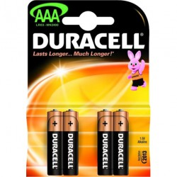 Mikrobaterie alkalická Duracell Basic, LR03, AAA, 4ks
