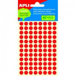 Etikety kolečka 8mm, 288 koleček, červené