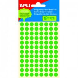 Etikety kolečka 8mm, 288 koleček, zelené