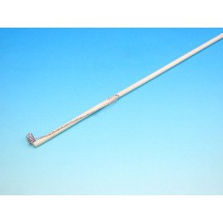 Hůlka k lampionům dřevěná s háčkem, 55 cm